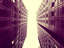 High rise buildings in sepia Stock Images
