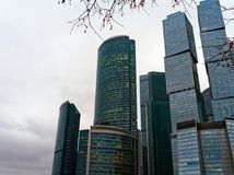 High-rise buildings, skyscrapers and office business center `Moscow City` Royalty Free Stock Image