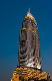 High rise buildings and streets in Dubai, UAE Royalty Free Stock Photos