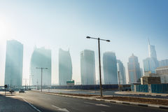 High rise buildings and streets in Dubai, UAE Stock Images