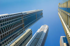 High rise buildings and streets in Dubai, UAE Royalty Free Stock Images