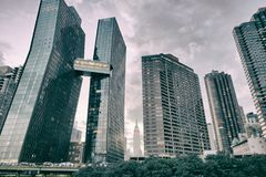 High Rise Buildings Under Cloudy Sky Stock Photos