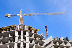 High-rise buildings under construction Royalty Free Stock Photography