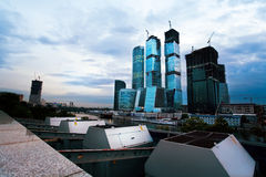 High-rise buildings under construction Royalty Free Stock Photos