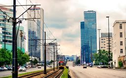High Rise Buildings Under Gray Cloudy Sky Stock Photography