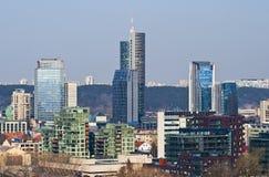 High-rise buildings in Vilnius. The new city, modern architecture, high-rise buildings of glass in the center of Vilnius Stock Photo