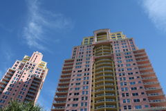 High Rise Condo. Modern high rise condo in sunny south Florida Stock Images