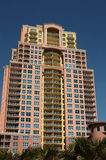 High Rise Condo. Modern high rise condo in sunny south Florida with blue sky Royalty Free Stock Image
