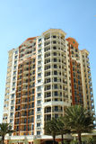 High Rise Condo. Modern high rise condo in sunny south Florida with blue sky Stock Images