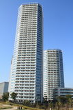 High rise condominium in Futagotamagawa Royalty Free Stock Photo