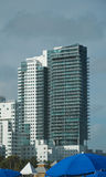 High Rise Condominiums in South Beach Stock Photo