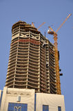 High rise construction. Abu Dhabi, UAE Stock Photos