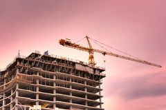 High rise construction Stock Images