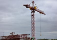 Building with Cranes Royalty Free Stock Images