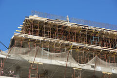 High rise construction at a construction site Royalty Free Stock Photo