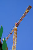 High rise construction cranes Stock Photos