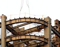 High Rise Construction Girders Stock Photography