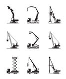 High-rise construction machinery Royalty Free Stock Photo