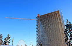 High-rise construction of scaffolding Stock Photography