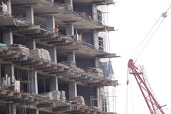 High rise construction site Royalty Free Stock Photo