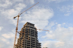 High rise construction site Stock Photos