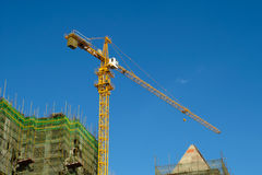 High rise construction site Stock Image