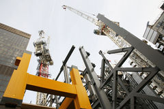High rise construction site Stock Photos