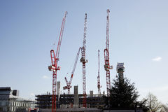 High rise construction site Stock Photography