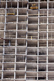 High-rise construction site with concrete structure in process Royalty Free Stock Photography