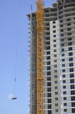 High-rise Construction Site. A high-rise condo building under construction in Miiami,Florida Stock Photography