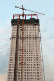 High-rise construction. Construction of  tall apartment building in Korea Royalty Free Stock Images