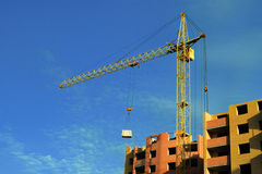 High-rise crane Stock Photo