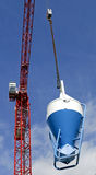 High rise Crane and Concrete mixer Royalty Free Stock Image