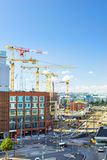 High-rise cranes working in building, Helsinki Stock Image