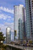 High rise dans des tours de Vancouver Images libres de droits
