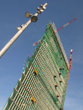 High rise de Barcelone en construction Photos libres de droits