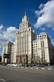 High-rise de bouw in Moskou Stock Foto