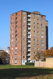 High rise flats or apartments. A stark block of high rise flats or apartments which are used for social housing royalty free stock photography