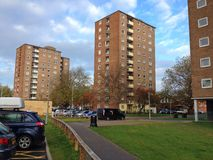 High rise flats or apartments. Social housing. Stock Photos