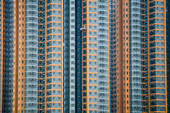 High rise flats with window cleaners Stock Photography