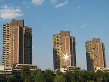 High-Rise gebouwen Stock Afbeelding