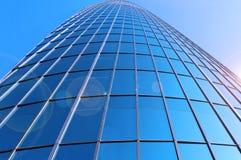 High-rise glass building. A full glass modern building Stock Photos