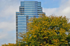 High rise glass exterior condominiums Royalty Free Stock Images