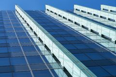 High-rise with glass facade in Frankfurt am Main. Modern high-rise with glass facade in Frankfurt am Main Stock Photography