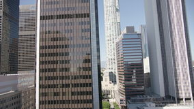 High rise glass office building downtown Los Angeles. 4K