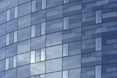 High Rise Glass Wall Office Block. Modern high rise glass wall construction office block in city centre Royalty Free Stock Images