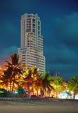 High-rise hotel on coast of sea Stock Photos