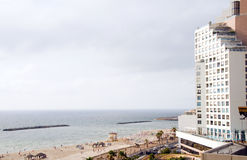 High rise hotel  Mediterranean sea Tel Aviv Royalty Free Stock Photography