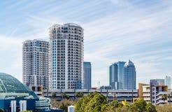 High Rise Hotels Near Tampa Bay Stock Photo