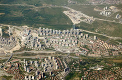 High rise housing in Istanbul, aerial view Royalty Free Stock Photos